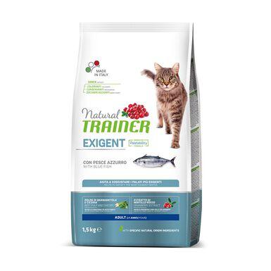 Pienso para gatos Natural Trainer Adult Exigent con pescado 1,5 kg