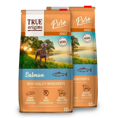 True Origins Pure Dog Adult Salmón - 2x12 kg Pack Ahorro