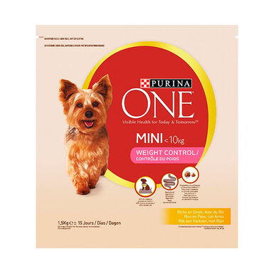 Purina One Adult Mini Weight Control pavo y arroz 1.5 kg