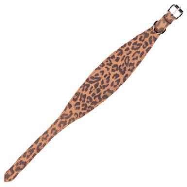 Arppe de cuero estampado leopardo collar galgos