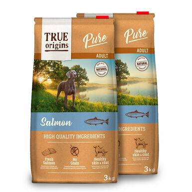 True Origins Pure Dog Adult Salmón - 2x3 kg Pack Ahorro