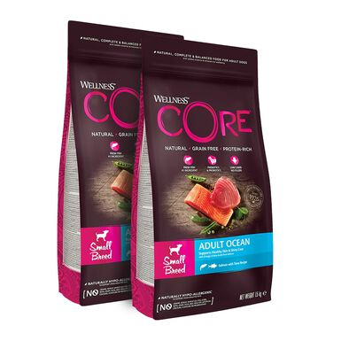 Wellness Core Ocean razas pequeñas- 2x1,5 kg Pack Ahorro