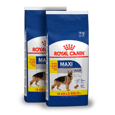 Royal Canin Maxi Adult - 2x(15 kg+3 kg) Pack Ahorro