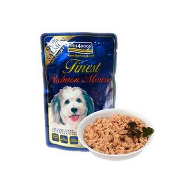 Fish4Dogss mousse salmón comida para perros 99gr