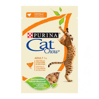 Pack 24 pouches Cat Chow comida húmeda para gato 85 gr