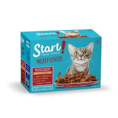 Sobres de comida húmeda Start Cat para gato 12 x 100 gr