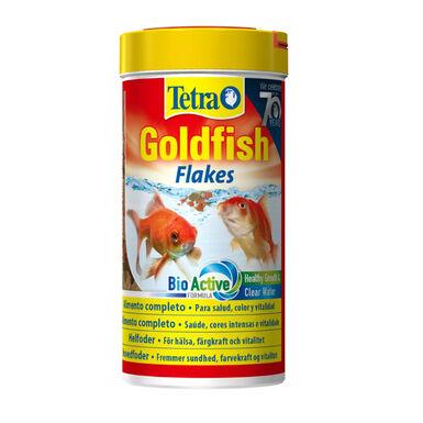 Tetra Goldfish comida en escamas para peces
