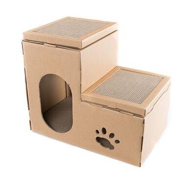 TK-Pet Cat Home casa rascador para gatos 2 en 1
