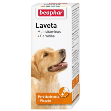 Beaphar Laveta Carnitina vitaminas para perro pelo