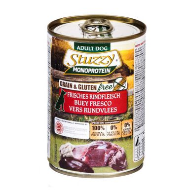 Stuzzy Monoprotein Buey comida húmeda para perro