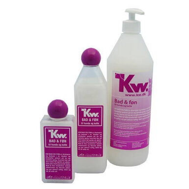 Kw 2 en 1 aceite de visón champú suavizante