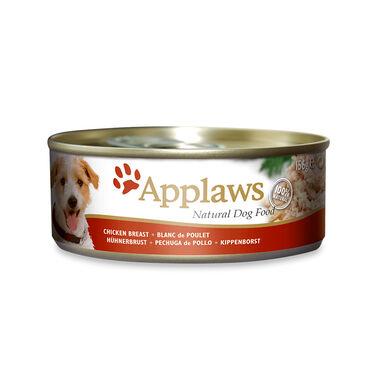 Pack 12 Latas Applaws alimento húmedo pechuga de pollo para perro 156 gr