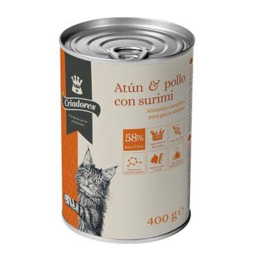 Criadores comida húmeda atún y pollo para gatos