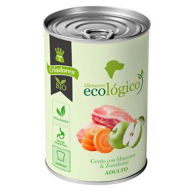 Criadores Ecológico Húmedo perros cerdo-manzana 400gr