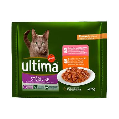 Sobres Ultima Feline Esterilizados 4 x 85 gr