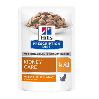 Pack 12 Pouches Hill's Prescription Diet Feline k/d 85 gr