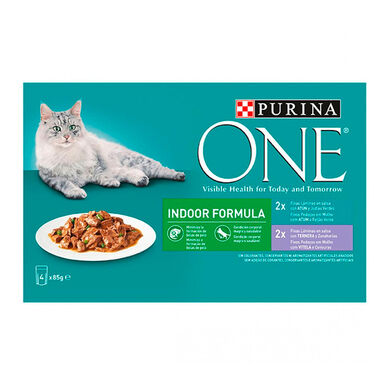 Purina One Wet Indoor 4 x 85 gr