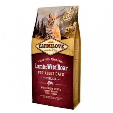 Carnilove Lamb & Wild Boar Sterilised pienso gatos