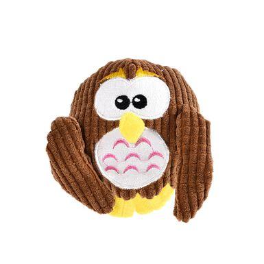 Juguete de peluche para perro Plush Ball Owl de Play & Bite