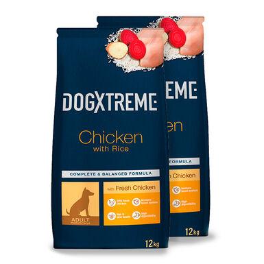 Dogxtreme Adult pollo y arroz - 2x12 kg Pack Ahorro