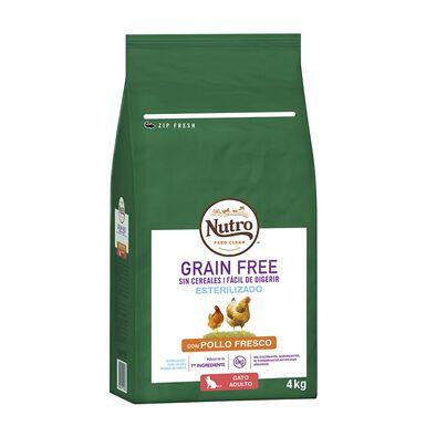 Nutro Grain Free para gatos esterilizados de pollo