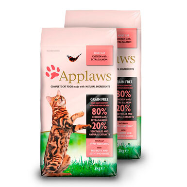 Applaws Feline Adult salmón y pollo - 2x7,5 kg Pack Ahorro