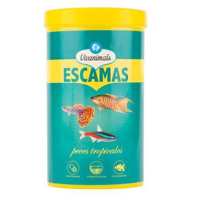 Vivanimals comida en escamas para peces tropicales