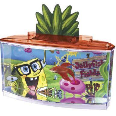 Penn Plax Bob Esponja acuario bettera para niños