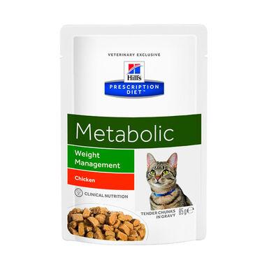 Pack 12 Pouches Hill's Prescription Diet Metabolic Feline 85 gr