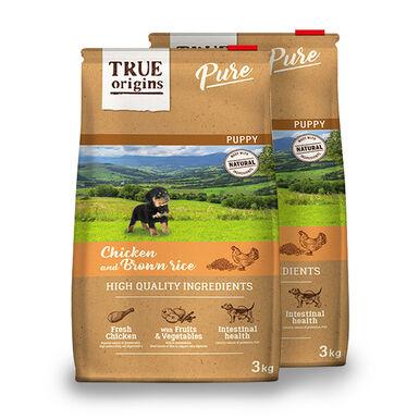 True Origins Pure Dog Puppy Pollo - 2x3 kg Pack Ahorro