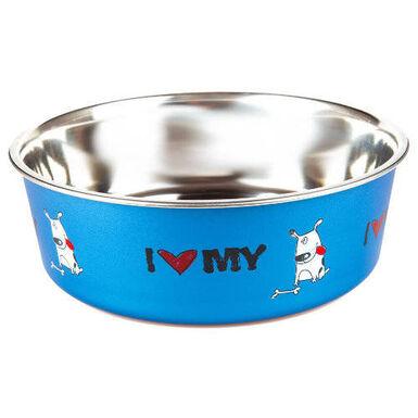 TK Pet I love my dog comedero para perro