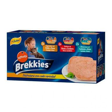 Multipack Brekkies 6 x 100 gr para gato