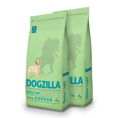 Dogzilla Senior Light - 2x12 kg Pack Ahorro