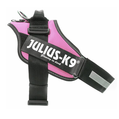 Julius K9 arnés ergonómico rosa para perros