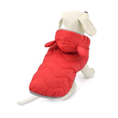 Abrigo Rojo Outech con Orejas de Oso