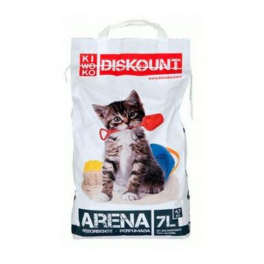 Pack 4 Sacos Arena no aglomerante para gatos Diskount 7L