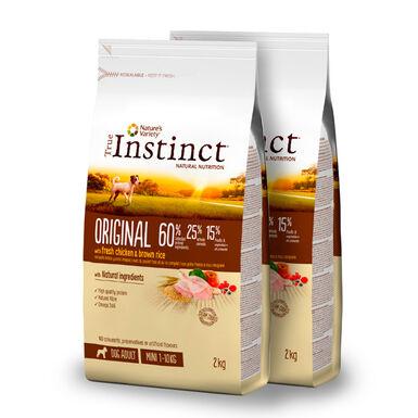 True Instinct Mini Adult Original con pollo y arroz integral - 2x7 kg Pack Ahorro