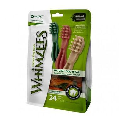 Snack natural en bolsa de dientes de Whimzees para perros de varios tamaños