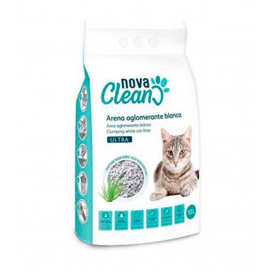 Arena Aglomerante Nova Clean Ultra 10 litros para gato