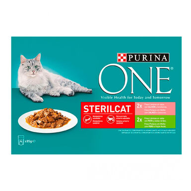 Purina One Wet Esterilizados 4 x 85 gr