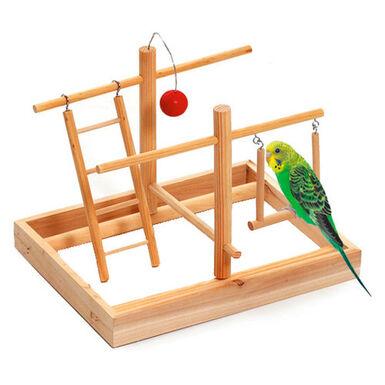 Flamingo gimnasio juguete para pájaros