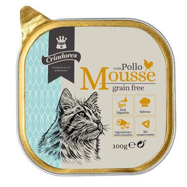 Criadores Mousse Grain Free comida gatos