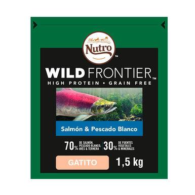 Nutro Wild Frontier Kitten salmón y pescado 1,5 kg