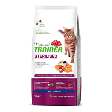 Pienso para gatos Natural Trainer Cat Adult Sterilised Salmón