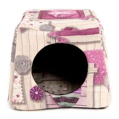 TK-Pet Doble Cuore cama cueva para gatos 2 en 1