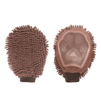 DGS manopla de microfibra y goma marrón