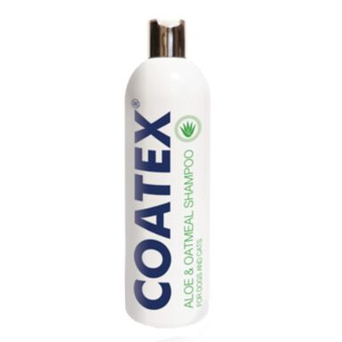 Coatex champú con aloe y avena para mascotas con pieles secas