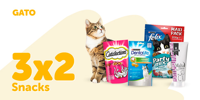 Descuentos snacks gato