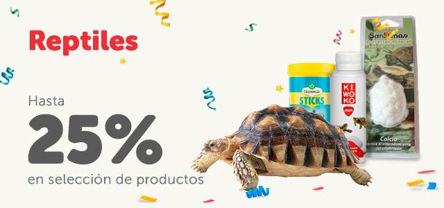 Hasta 25% en productos de reptiles