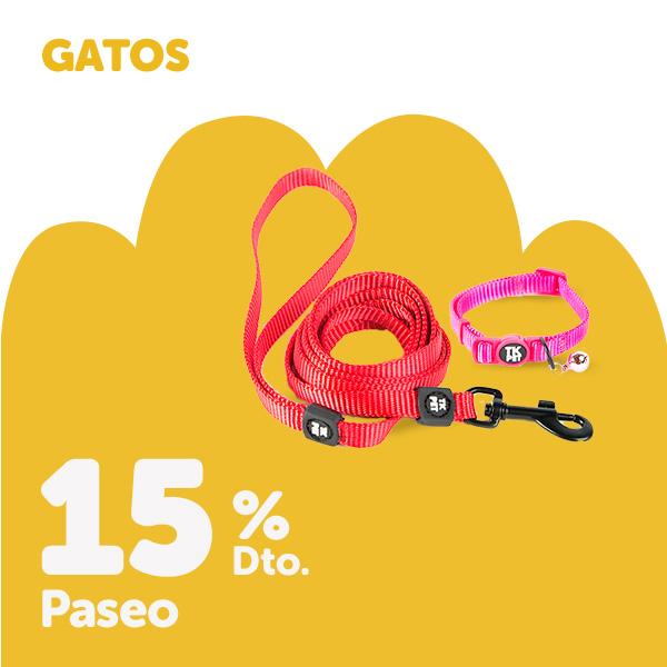 15% en accesorios de paseo para gato